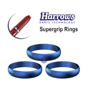 Harrows kroužky supergrip modré 3ks