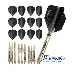Harrows Retina X Flight and Shaft Combo Kit Black