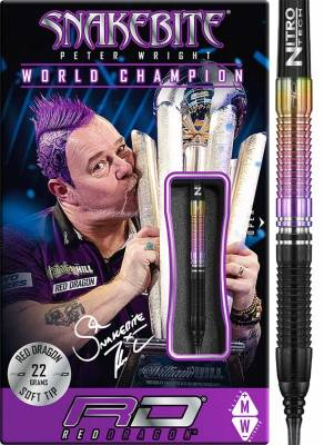 Red Dragon šipky Peter Wright World Champion soft 22g