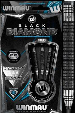 Winmau šipky Black Diamond steel 24g