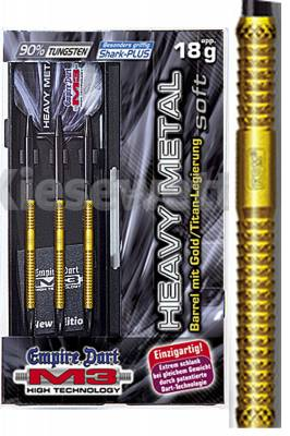 Empire dart šipky M3 Heavy metal gold 18g