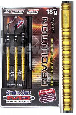 Empire dart šipky M3 Heavy Revolution gold 18g