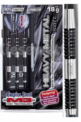 Empire dart šipky M3 Heavy metal black 18g